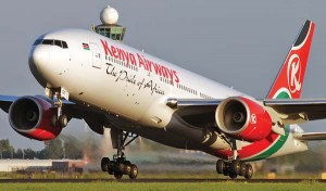 Kenya Airways plane Livingstone photo